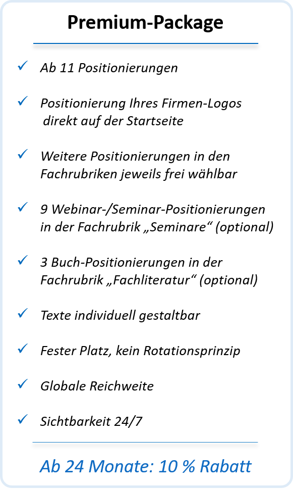 Premium-Package registrieren