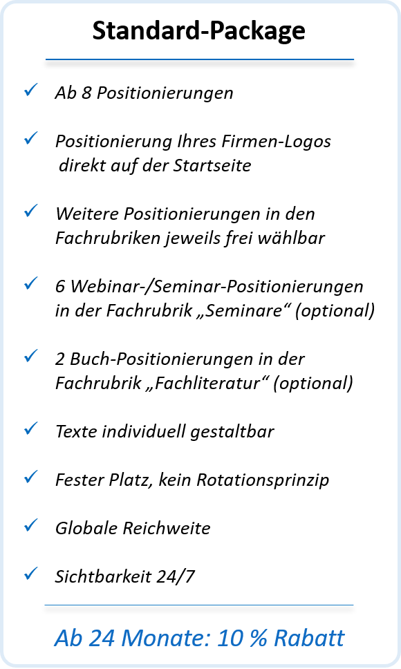 Standard-Package registrieren